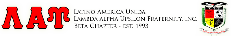 Beta Chapter of Latino America Unida, Lambda Alpha Upsilon Fraternity, Inc.